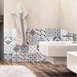 Ambiance-Live Carreaux de Ciment adhésif Mural - azulejos - 20 x 20 cm -24 pièces de la marque Ambiance-Live image 0 produit