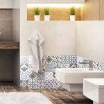 Ambiance-Live Carreaux de Ciment adhésif Mural - azulejos - 20 x 20 cm -24 pièces de la marque Ambiance-Live image 1 produit