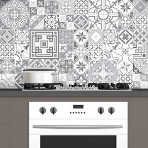 Ambiance-Live Carreaux de Ciment adhésif Mural - azulejos - 20 x 20 cm - 60 pièces de la marque Ambiance-Live image 0 produit