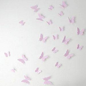 Ambiance-Live Kit de Stickers 12 3D Papillons Roses de la marque Ambiance-Live image 0 produit