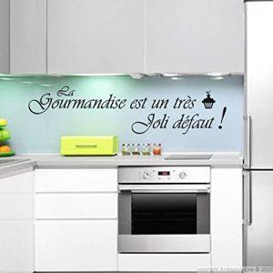 Ambiance-Live Sticker La gourmandise est Un très Joli défaut - Noir - 30 x 50 cm de la marque Ambiance-Live image 0 produit