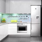 Ambiance-Live Sticker La gourmandise est Un très Joli défaut - Noir - 30 x 50 cm de la marque Ambiance-Live image 1 produit
