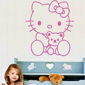 Ambiance-Live Sticker Mural hello Kitty nounours - 46 X 40 cm, Fuchsia de la marque Ambiance-Live image 0 produit