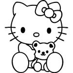 Ambiance-Live Sticker Mural hello Kitty nounours - 46 X 40 cm, Fuchsia de la marque Ambiance-Live image 1 produit