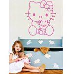 Ambiance-Live Sticker Mural hello Kitty nounours - 46 X 40 cm, Fuchsia de la marque Ambiance-Live image 2 produit