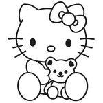 Ambiance-Live Sticker Mural hello Kitty nounours - 46 X 40 cm, Fuchsia de la marque Ambiance-Live image 3 produit