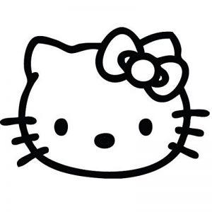 Ambiance-Live Sticker Mural hello Kitty visage - 40 X 55 cm, Rose de la marque Ambiance-Live image 0 produit