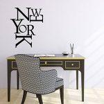 Ambiance-Live Sticker Mural New York composition - 55 X 45 cm, Noir de la marque Ambiance-Live image 2 produit