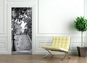 Ambiance-Live Sticker Porte 204 x 83 cm - Escalier Parisien de la marque Ambiance-Live image 0 produit