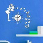 Amovible Ange Papillon Miroir Mur Stickers Sticker Art Pvc Maison Chambre Decoratio de la marque Dinglong Stickers Muraux image 2 produit