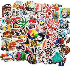 ANKENGS Autocollant [100-pcs] Graffiti Autocollant, Autocollant Vinyle, Autocollant aléatoire, Parfait pour Ordinateur Portable, Les Planches à roulettes, Les Bagages, Les Voitures de la marque ANKENGS image 0 produit