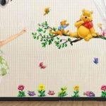Aokeshen 23.23*9.06inches Winnie l'ourson sticker mural amovible réutilisable pour Enfants / Garçons / Filles / Décoration/Maison/Chambre à coucher etc en PVC de la marque ZuoLan image 3 produit