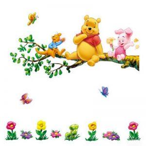 Aokeshen 23.23*9.06inches Winnie l'ourson sticker mural amovible réutilisable pour Enfants / Garçons / Filles / Décoration/Maison/Chambre à coucher etc en PVC de la marque ZuoLan image 0 produit