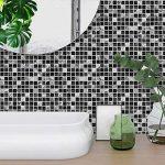Apsoonsell auto-adhésif étanche en marbre mosaïque murale de cuisine meubles Autocollant pour carrelage Autocollant mural ( 20,3x 20,3cm -10pcs, 1d, 8 * 8inches|20cm*20cm de la marque APSOONSELL image 1 produit