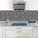 Apsoonsell auto-adhésif étanche en marbre mosaïque murale de cuisine meubles Autocollant pour carrelage Autocollant mural ( 20,3x 20,3cm -10pcs, 1d, 8 * 8inches|20cm*20cm de la marque APSOONSELL image 2 produit