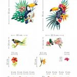 Aquarelle Tropical Oiseaux avec de magnifiques Fleurs stickers Peel et bâton Stickers muraux pour chambre d'enfant Chambre à coucher bébé fille enfants Décorations de salles de la marque Prodesign image 4 produit