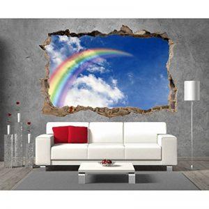 Art déco Stickers - Stickers 3D Trompe l'oeil Arc en Ciel réf 23315-23315 - 120x80cm de la marque Art déco Stickers image 0 produit