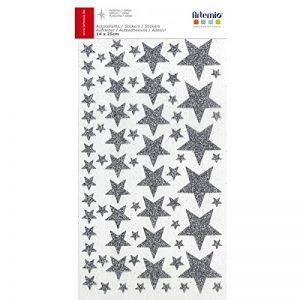 Artemio 11004502 Stickers Etoiles Papier, Argent, 14 x 0,2 x 28 cm de la marque Artemio image 0 produit