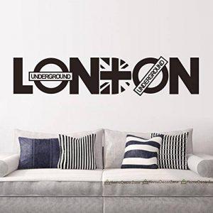 asenart Londres Lettre en PVC amovible chambre DIY Sticker mural vinyle Home Decor Art Taille 20,3x 94cm de la marque ASENART image 0 produit