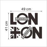 asenart Londres Lettre en PVC amovible chambre DIY Sticker mural vinyle Home Decor Art Taille 20,3x 94cm de la marque ASENART image 2 produit