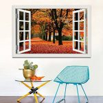 """Asenart Poster mural 3D autocollant Motif forêt/arbre/paysage, W0281, 28""""X40"""" de la marque ASENART image 2 produit"""