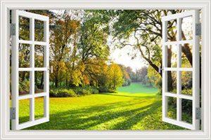 """Asenart Poster mural 3D autocollant Motif forêt/arbre/paysage, W0286, 32""""X48"""" de la marque ASENART image 0 produit"""
