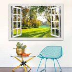 """Asenart Poster mural 3D autocollant Motif forêt/arbre/paysage, W0286, 32""""X48"""" de la marque ASENART image 2 produit"""