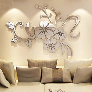 Asvert Stickers Autocollants Muraux 3D Miroir Fleurs pour Décoration de la Maison de la marque Asvert image 0 produit