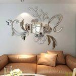 Asvert Stickers Autocollants Muraux 3D Miroir Fleurs pour Décoration de la Maison de la marque Asvert image 2 produit