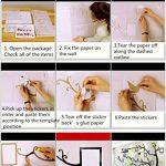 Asvert Stickers Muraux 3D Autocollants pour Fenêtre Murale Décoration Chambre Salon (Style 2(Feuilles Vertes foncé et Clair vers Gauche)) de la marque Asvert image 1 produit