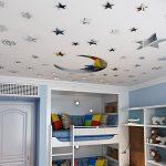 ATFUNSHOP Stickers muraux Miroir Lune et décoration de la Maison étoile pour la réflexion d'argent de Salon d'enfants de la marque ATFUNSHOP image 1 produit