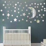 ATFUNSHOP Stickers muraux Miroir Lune et décoration de la Maison étoile pour la réflexion d'argent de Salon d'enfants de la marque ATFUNSHOP image 3 produit