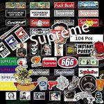 Autocollant 104 Pcs-Supreme pour ordinateur portable Stickers muraux en vinyle autocollant de voiture pour snowboard Moto Vélo DIY fenêtre de voiture Bumper bagages mural Motif graffiti patches de la marque Sanmatic image 2 produit