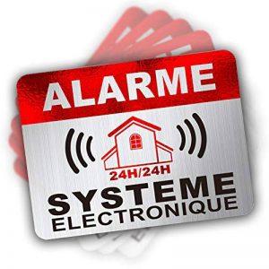 Autocollant Alarme dissuasifs Stickers Alarme sécurité Haute qualité Apparence en Inoxydable 8x6cm Lot DE 12 de la marque CeenoSign image 0 produit