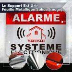 Autocollant Alarme dissuasifs Stickers Alarme sécurité Haute qualité Apparence en Inoxydable 8x6cm Lot DE 12 de la marque CeenoSign image 1 produit