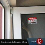 Autocollant Alarme dissuasifs Stickers Alarme sécurité Haute qualité Apparence en Inoxydable 8x6cm Lot DE 12 de la marque CeenoSign image 3 produit