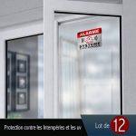 Autocollant Alarme dissuasifs Stickers Alarme sécurité Haute qualité Apparence en Inoxydable 8x6cm Lot DE 12 de la marque CeenoSign image 4 produit