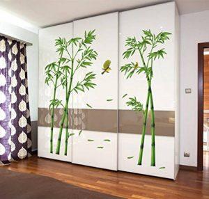 Autocollant créatif bambou amovibles chevet Salon Couloir Chambre Sticker décoratif mural (2pcs) de la marque NIKU-Home image 0 produit