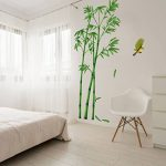 Autocollant créatif bambou amovibles chevet Salon Couloir Chambre Sticker décoratif mural (2pcs) de la marque NIKU-Home image 1 produit