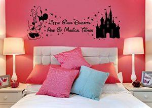 Autocollant en vinyle Disney Minnie Mouse - Château magique pour enfant - Art mural, autocollant mural, transfert, pochoir de la marque m-t-enterprises-Vinyl image 0 produit