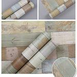 Autocollant en vinyle Panneau en bois Grain Contact papier pour armoires de cuisine Dosseret Sticker mural 61x 199,6cm de la marque glow4u image 1 produit