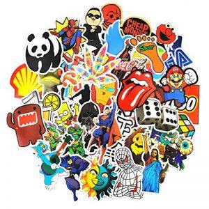 Autocollant Lot [150-pcs] Graffiti Autocollant Stickers vinyles pour ordinateur portable, enfants, voitures, moto, vélo, Skateboard bagages, Bumper Stickers hippie autocollants Bomb étanche... de la marque Neuleben image 0 produit