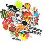 Autocollant Lot [150-pcs] Graffiti Autocollant Stickers vinyles pour ordinateur portable, enfants, voitures, moto, vélo, Skateboard bagages, Bumper Stickers hippie autocollants Bomb étanche... de la marque Neuleben image 2 produit