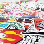 Autocollant Lot [150-pcs] Graffiti Autocollant Stickers vinyles pour ordinateur portable, enfants, voitures, moto, vélo, Skateboard bagages, Bumper Stickers hippie autocollants Bomb étanche... de la marque Neuleben image 3 produit