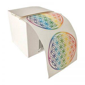 Autocollant-motif : fleur de vie-rainbow lot de 50 de la marque EAST-WEST-Trading-GmbH image 0 produit