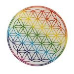 Autocollant-motif : fleur de vie-rainbow lot de 50 de la marque EAST-WEST-Trading-GmbH image 1 produit