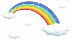 autocollant mural chambre d'enfant Aren-ciel des nuages blancs Sticker garçon de la marque dekodino image 0 produit