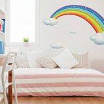 autocollant mural chambre d'enfant Aren-ciel des nuages blancs Sticker garçon de la marque dekodino image 1 produit