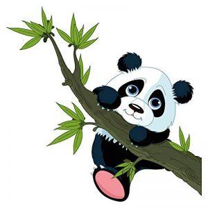 autocollant mural chambre d'enfant Panda bear une branche de bambou Sticker m de la marque dekodino image 0 produit