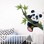 autocollant mural chambre d'enfant Panda bear une branche de bambou Sticker m de la marque dekodino image 1 produit